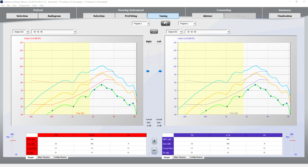 Hearing Aid Software Screenshot