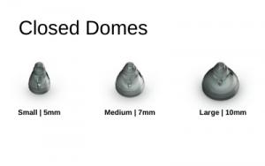 Phonak - Unitron Closed Hearing aid Domes in Small, Medium, & Large Sizes.