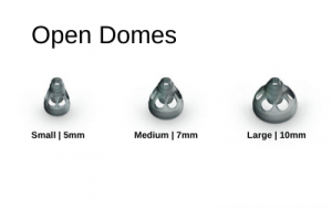 Phonak - Unitron Open Fit Hearing Aid Domes in Small, Medium, & Large Sizes.