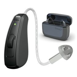 ReSound LiNX Quattro Hearing Aid and charging Case
