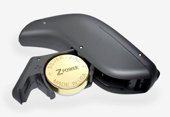 ZPower Battery in a hearing aid.