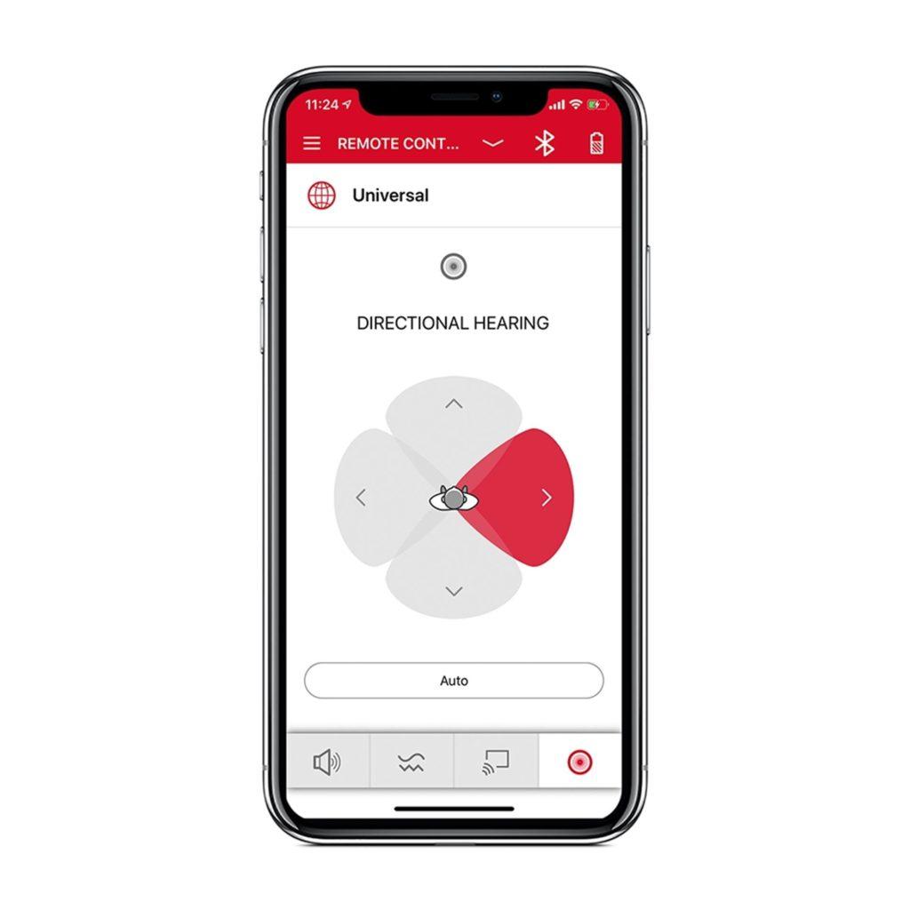Signia App Directional Control