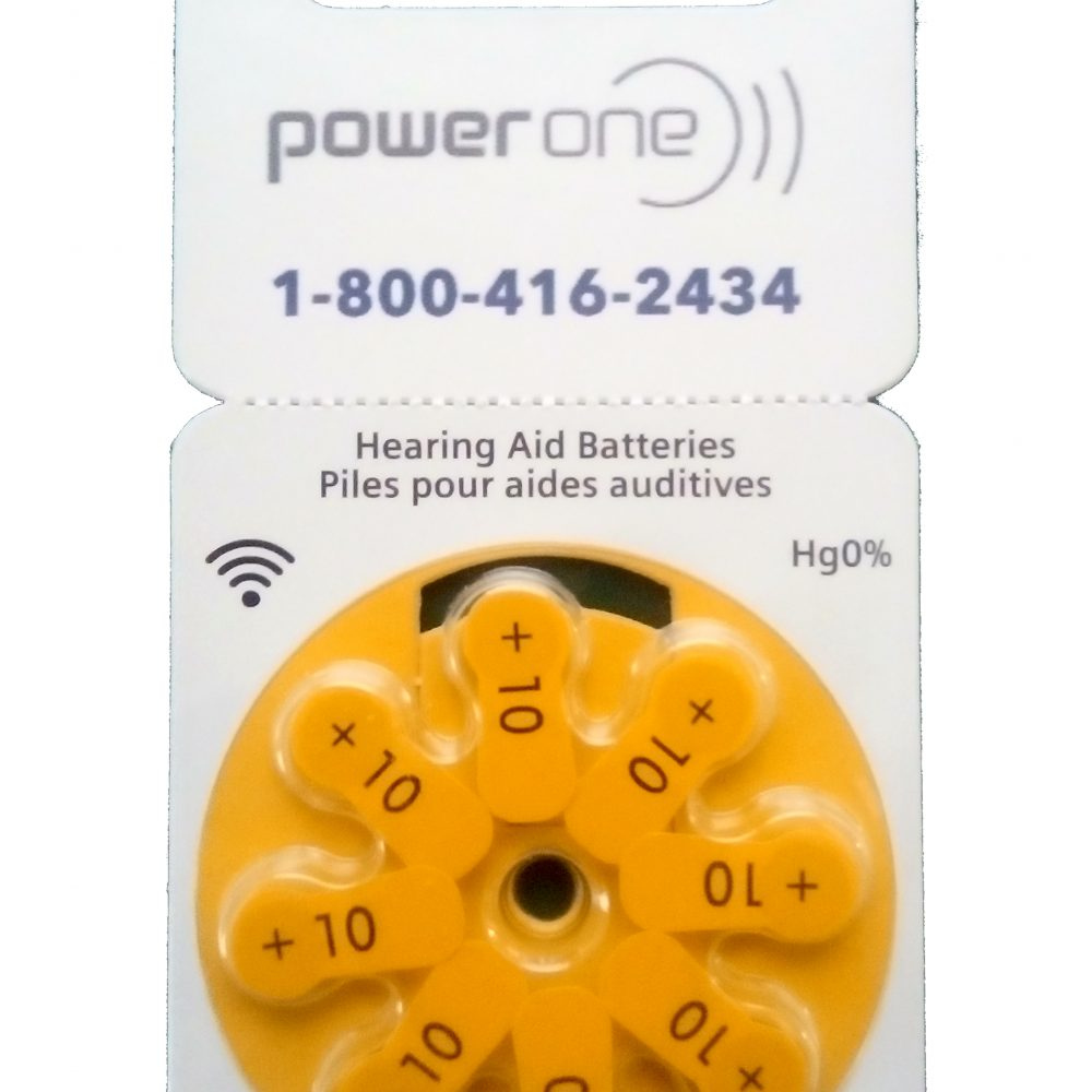 Power One Size 10 Hearing Aid Batteries<br>Box of 80
