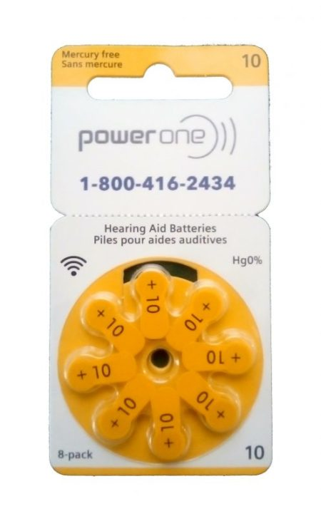powerone size 10 hearing aid batteries
