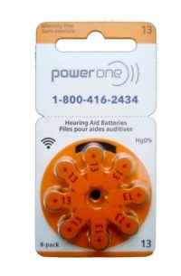 PowerOne Hearing Aid Batteries<br>Size 13 – Box of 80