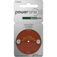 PowerOne ACCU plus Rechargeable Battery<br>2-Pack
