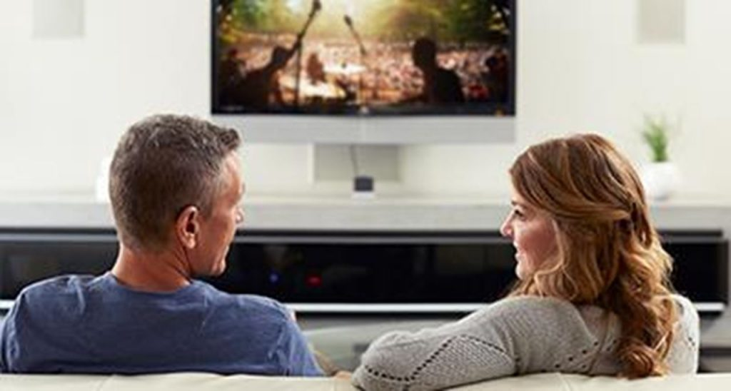 ReSound TV Streamer Couple Watching TV Together
