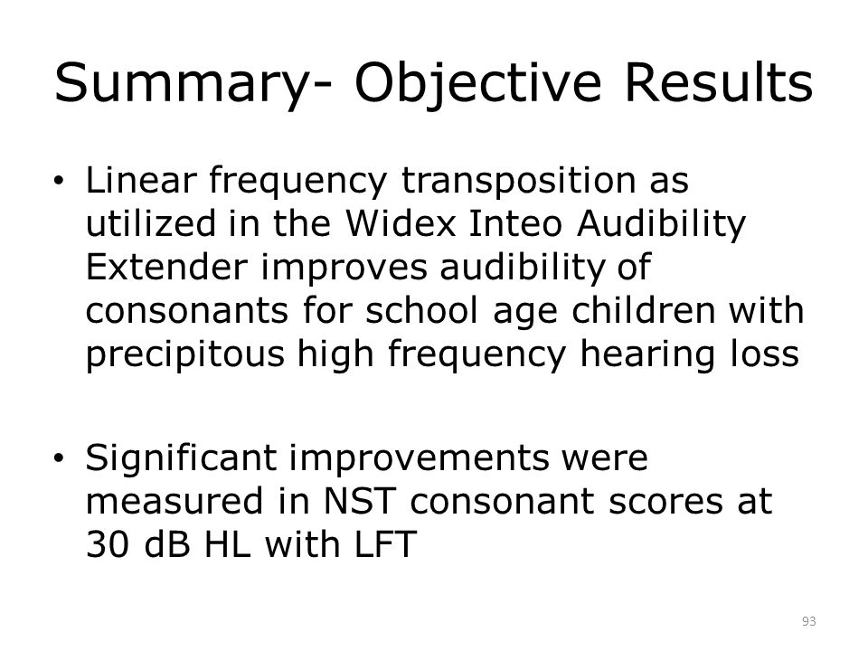 Widex Audibility Extender with children