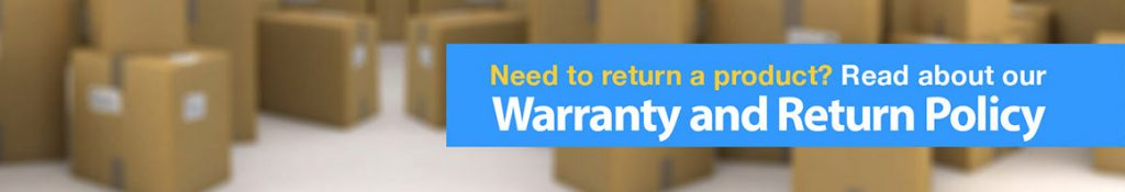 Warranty and returns banner
