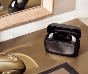 ReSound ONE hearing aids in charger