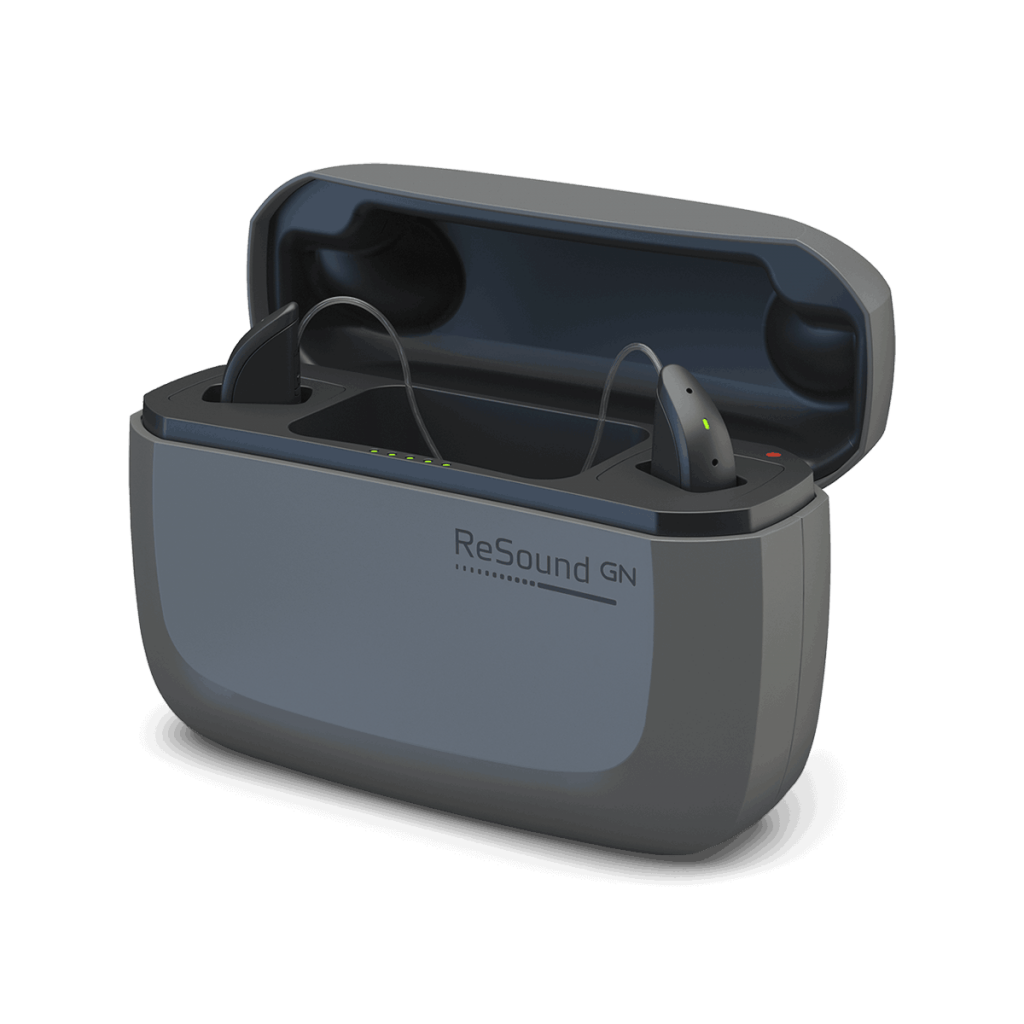 ReSound ONE Hearing aids with charger