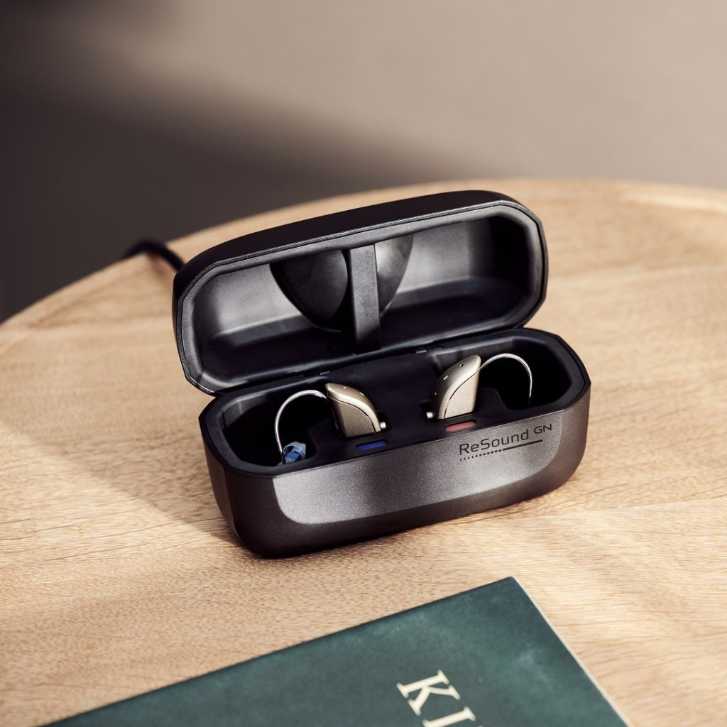 ReSound ONE hearing aids with standard charger