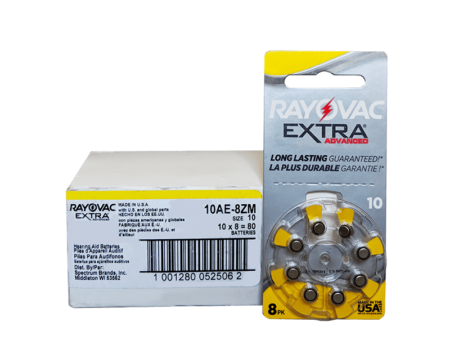 10 box rayovac haring aid batteries 80