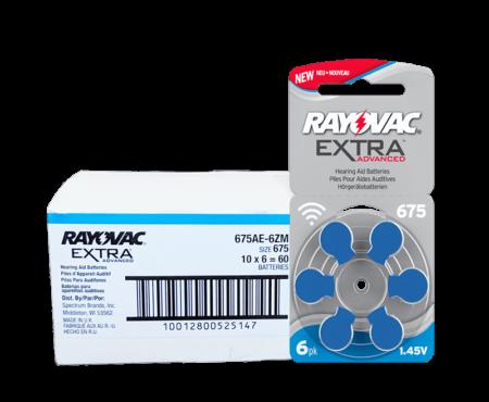 675 box rayovac haring aid batteries 80