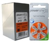 PowerOne Hearing Aid Batteries<br>Size 13 – Box of 60