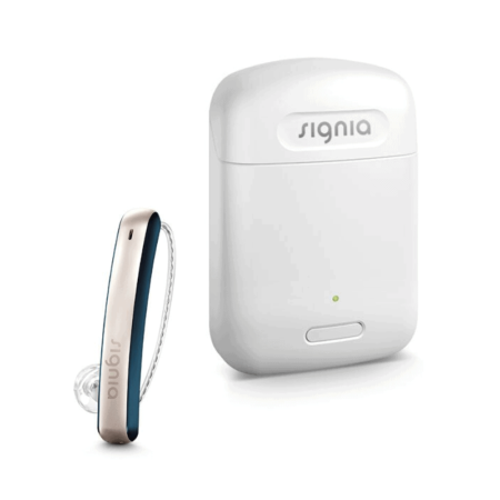 Signia Styletto Connect Cosmic Blue Single with Charger