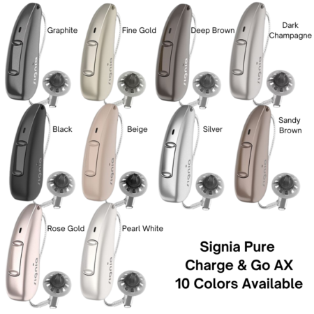 Signia Pure ChargeGo AX Colors